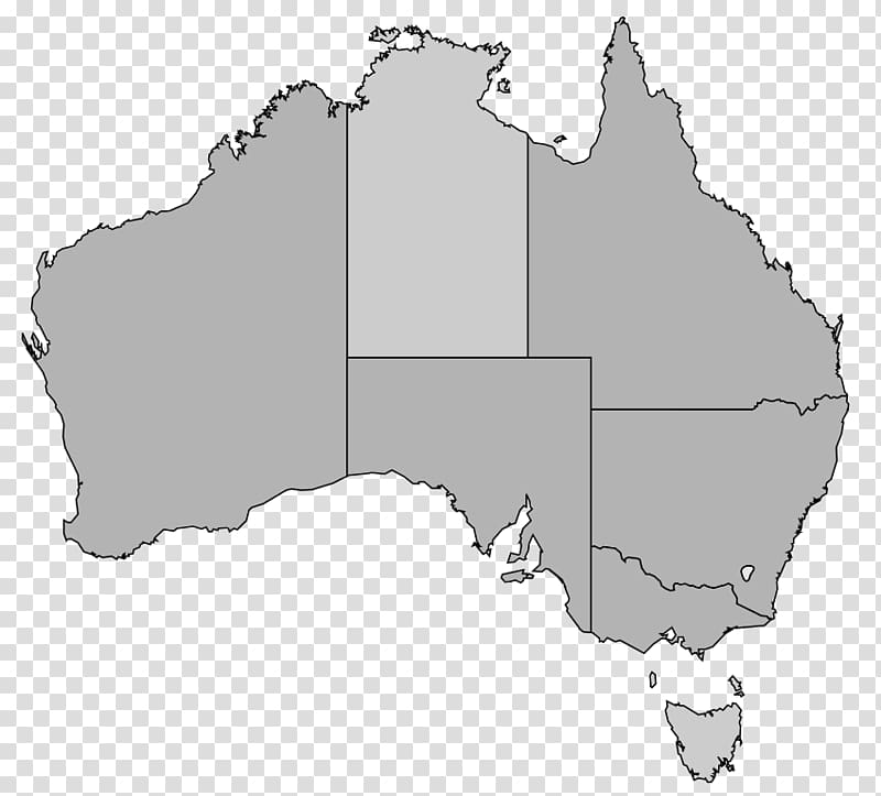 Australia map with states clipart png transparent library Australia Map, Australia transparent background PNG clipart | HiClipart png transparent library