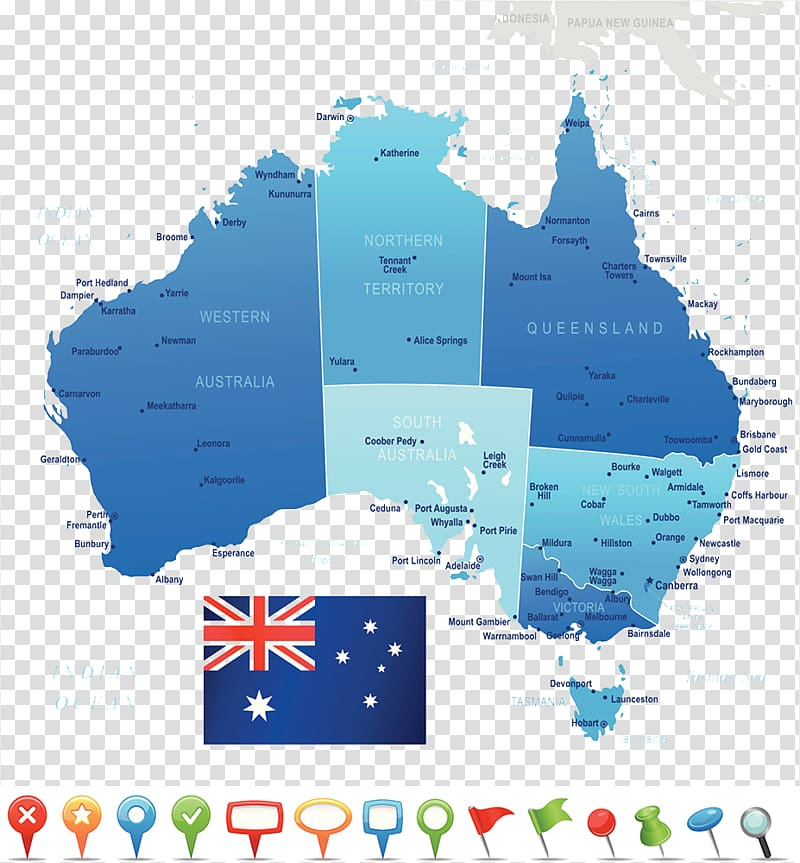 Australia map with states clipart banner download Perth United States Map Flag of Australia, Map of the Australian ... banner download