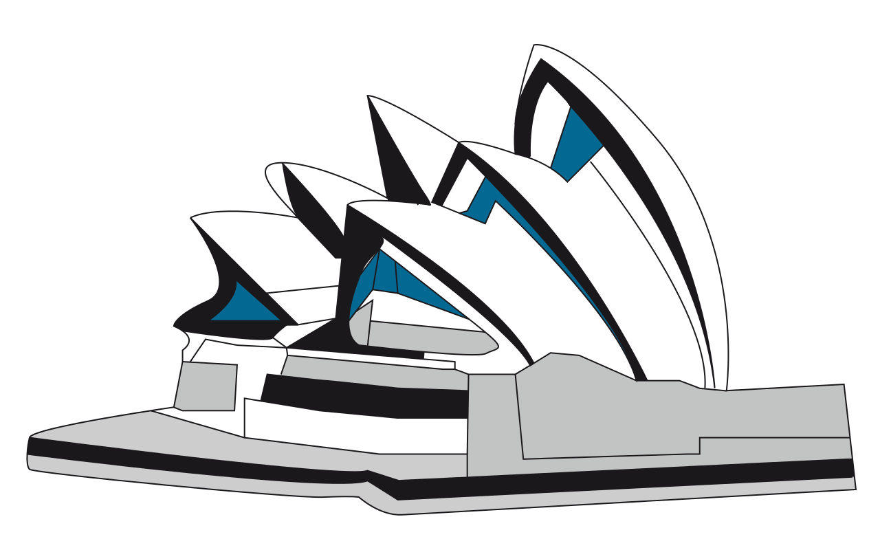 Australia opera house black and white clipart clip freeuse stock 28+ Collection of Sydney Opera House Clipart | High quality, free ... clip freeuse stock