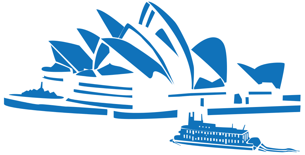 Australia opera house black and white clipart png freeuse stock File:World landmarks blue icons - Sydney Opera.svg - Wikimedia Commons png freeuse stock