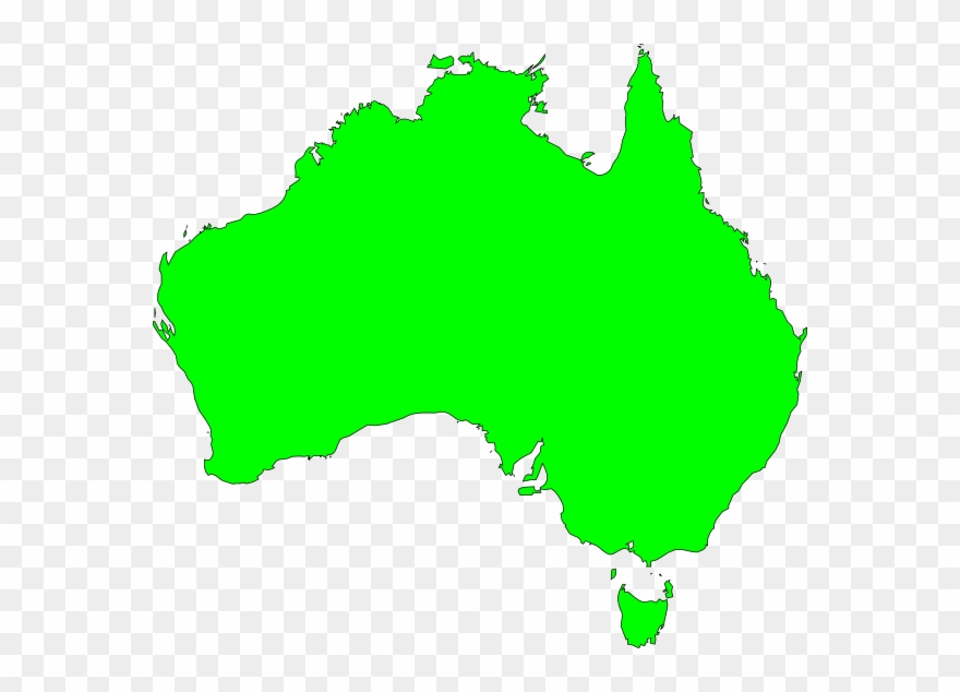 Australia vector clipart png black and white download Australia Map Vector Ai Clipart (#19996) - PinClipart png black and white download
