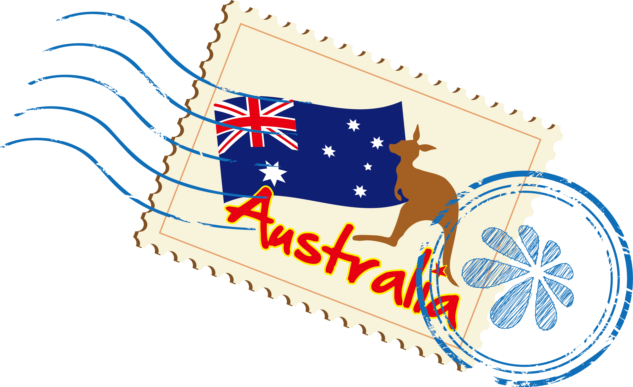 Australia vector clipart png library download Download Vector Euclidean Stamps Australia Icon Free PNG HQ Clipart ... png library download