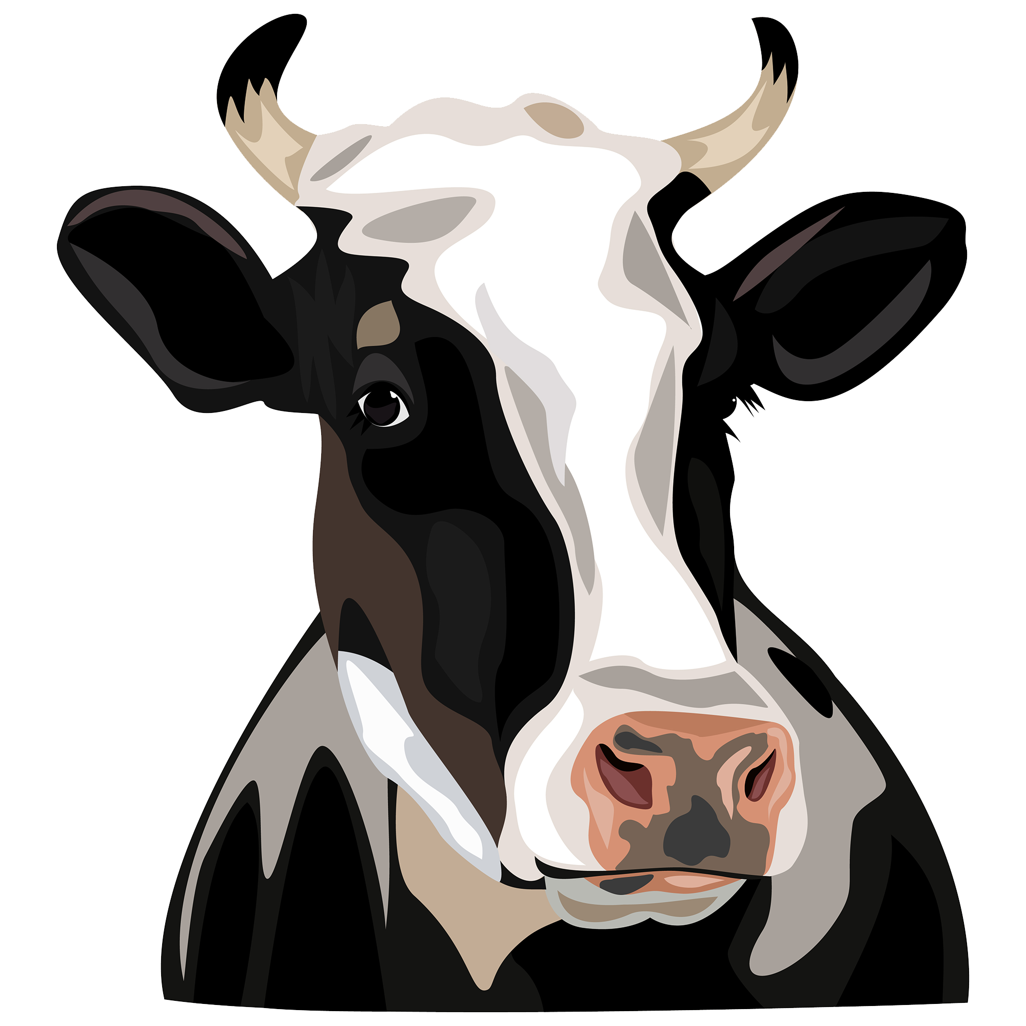 Australian cattle dog clipart clip free Holstein Friesian cattle Clip art - Cow Head 2000*2000 transprent ... clip free