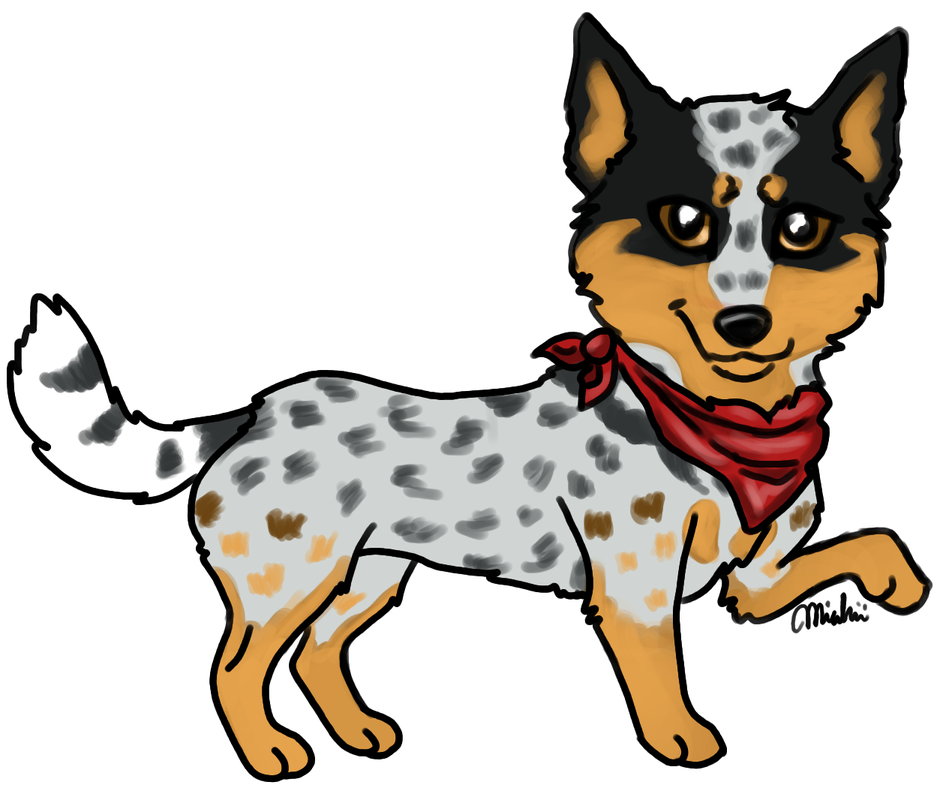 Australian cattle dog clipart svg download Wynn - Miahii's characters svg download