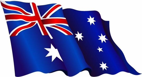 Australian flag waving clipart jpg Australian flag Free vector in Adobe Illustrator ai ( .AI ... jpg