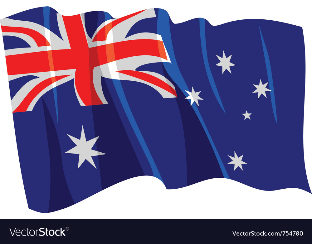 Australian flag waving clipart vector transparent download Political waving flag of australia vector transparent download