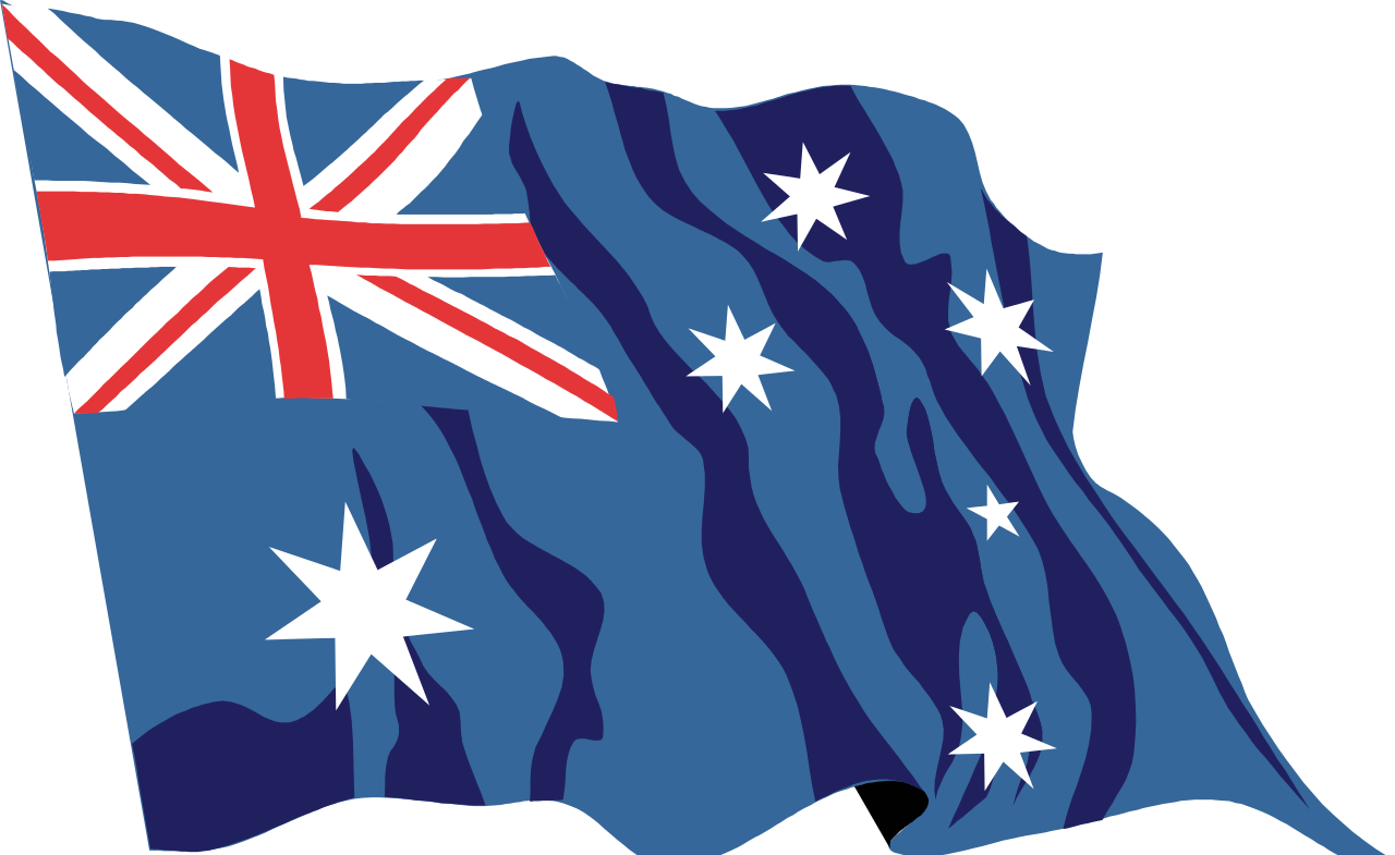 Australian flag waving clipart png library stock File:Australia flag waving icon.svg - Wikimedia Commons png library stock