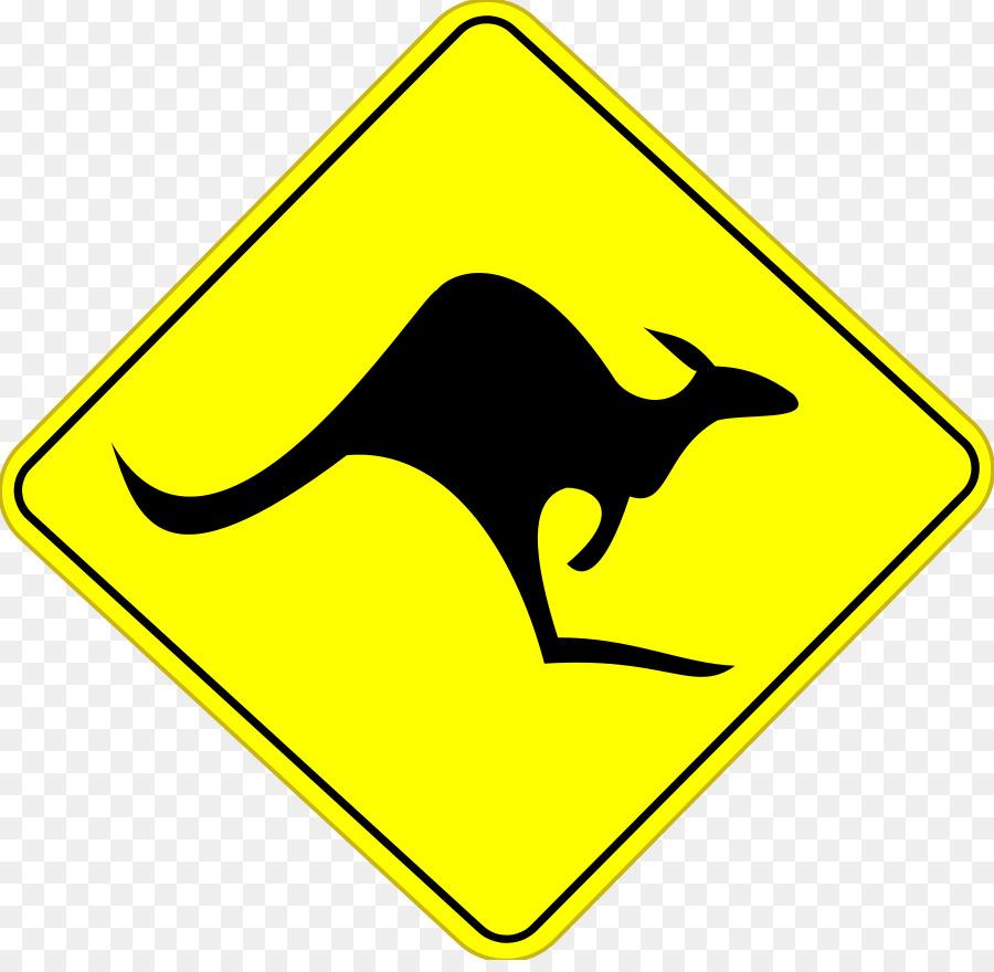 Australian kangaroo clipart image royalty free Kangaroo Cartoon clipart - Kangaroo, Sign, Yellow, transparent clip art image royalty free