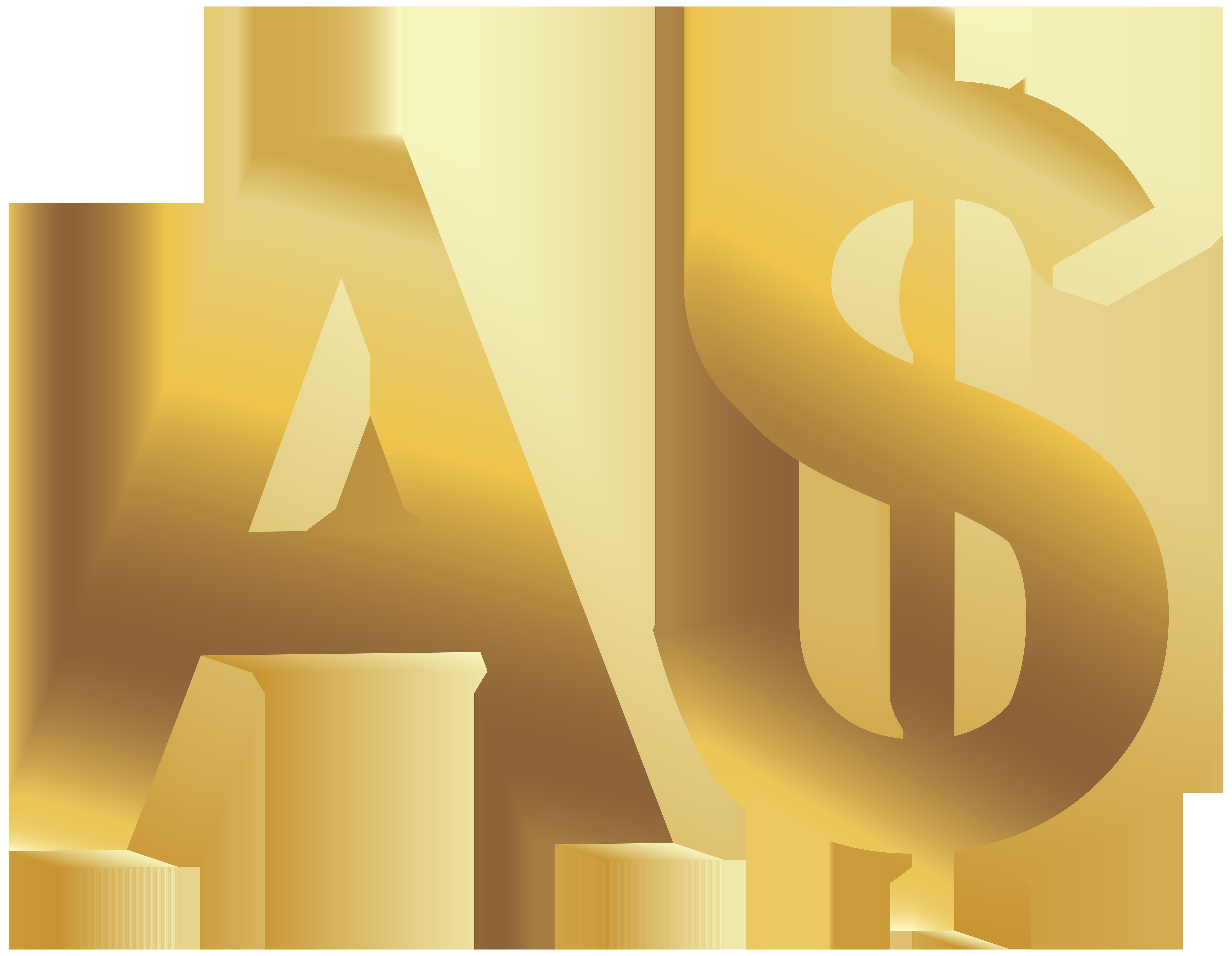 Australian money clipart free image library Australian Dollar Symbol PNG Clip Art - Best WEB Clipart image library