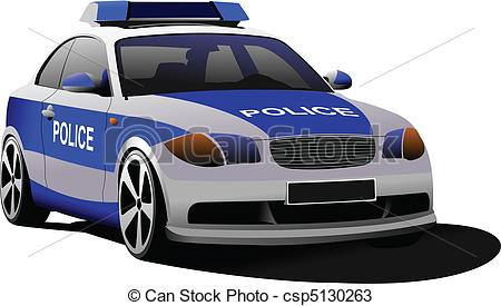 Cop vector graphics eps. Australian police car clipart