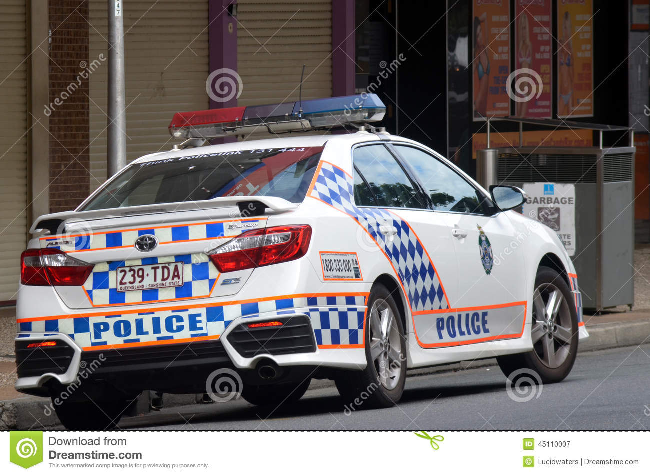 Australian police car clipart picture black and white library Queensland Police Service (QPS) -Australia Editorial Photography ... picture black and white library