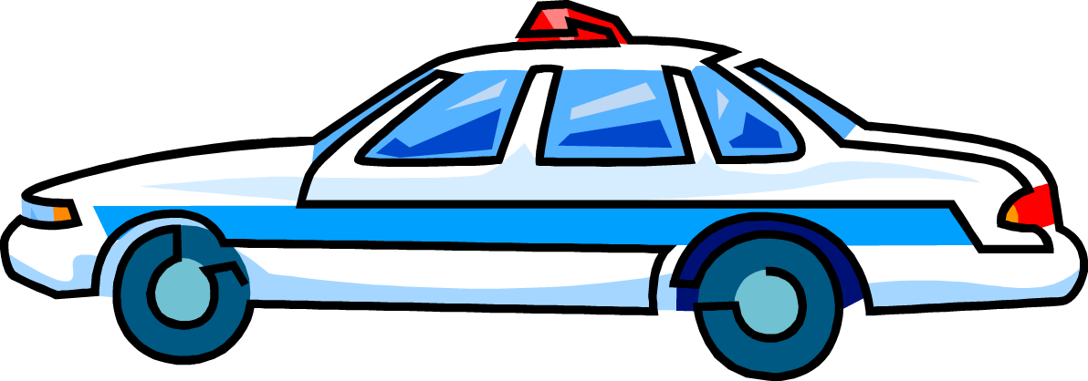 Police station with police car clipart