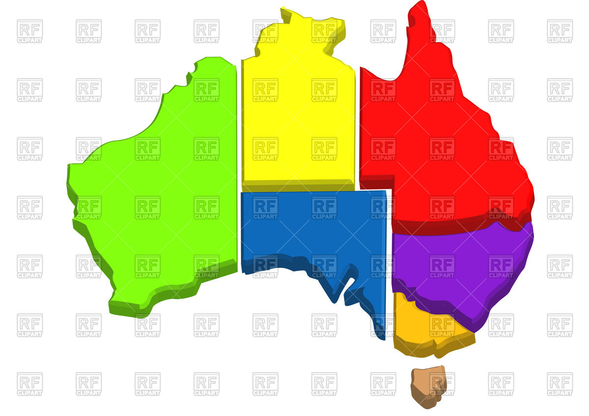Australian states clipart image library Australian map with states Vector Image #54497 – RFclipart image library