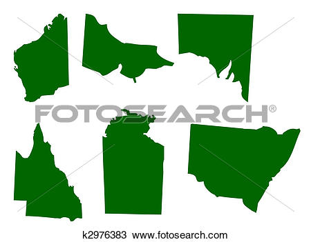Australian states clipart clip art royalty free stock Drawing of Australian States k2976383 - Search Clipart ... clip art royalty free stock