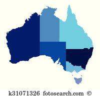 Australian states clipart. And illustration australia state