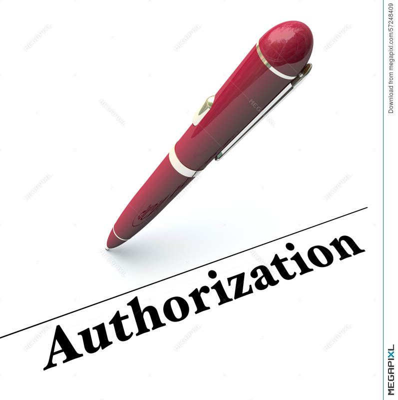 Authorization clipart image black and white stock Authorization Pen Signing Approval Official Authority Agreement ... image black and white stock