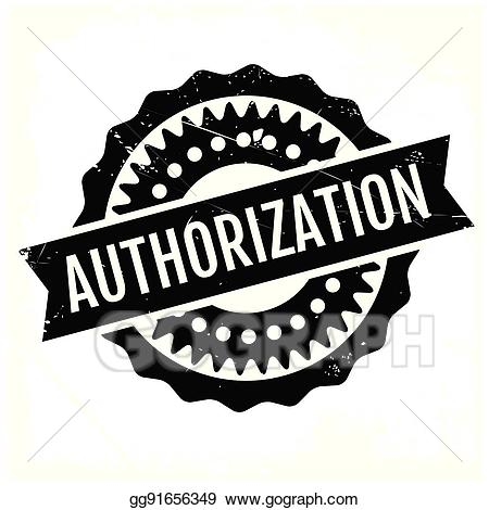 Authorization clipart banner free stock Vector Illustration - Authorization rubber stamp. EPS Clipart ... banner free stock