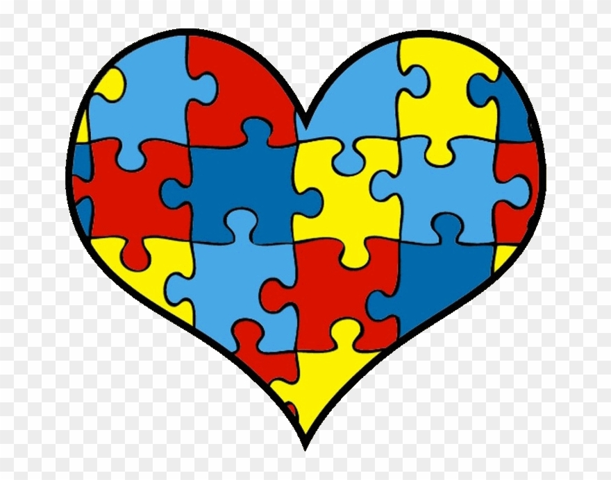 Autism puzzle heart clipart black and white png freeuse Autism Vector Heart - Autism Clipart - Png Download (#1234135 ... png freeuse