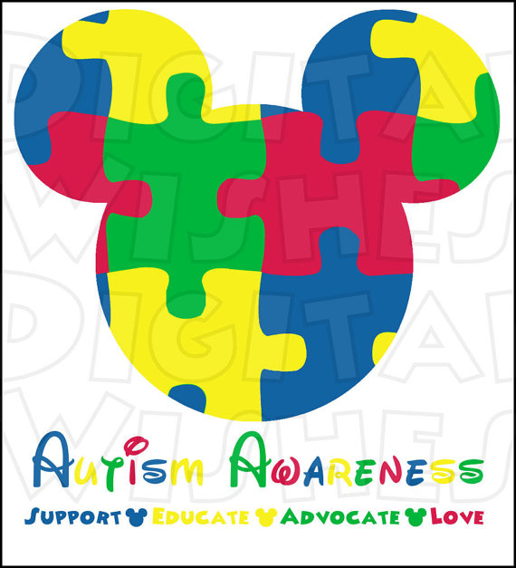 Autism awareness clipart. Mickey mouse head ears