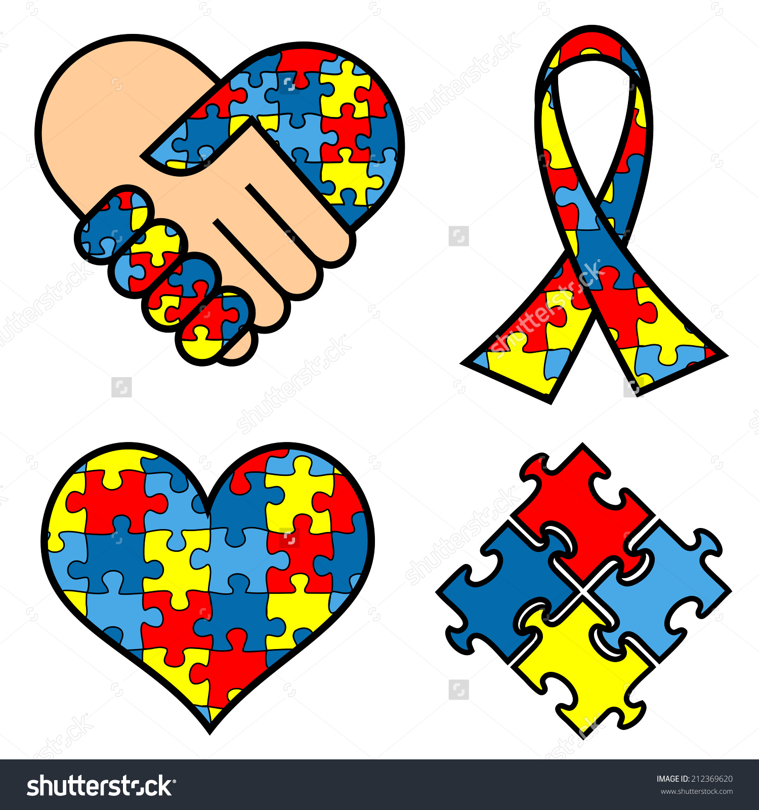 Ribbon clip art free. Autism awareness clipart