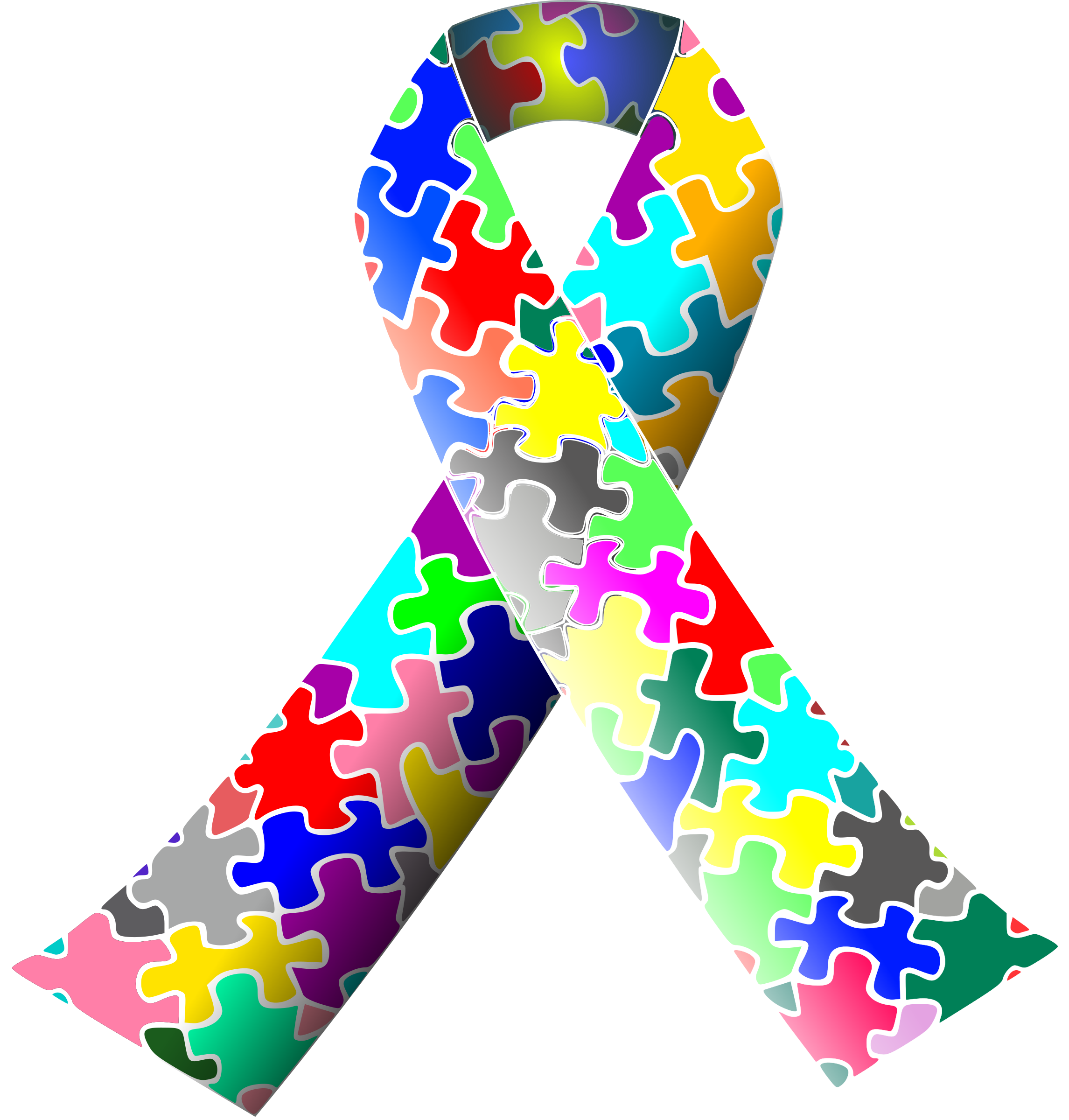 Autism clip art clipart royalty free stock Clipart - Autism (puzzle) ribbon clipart royalty free stock