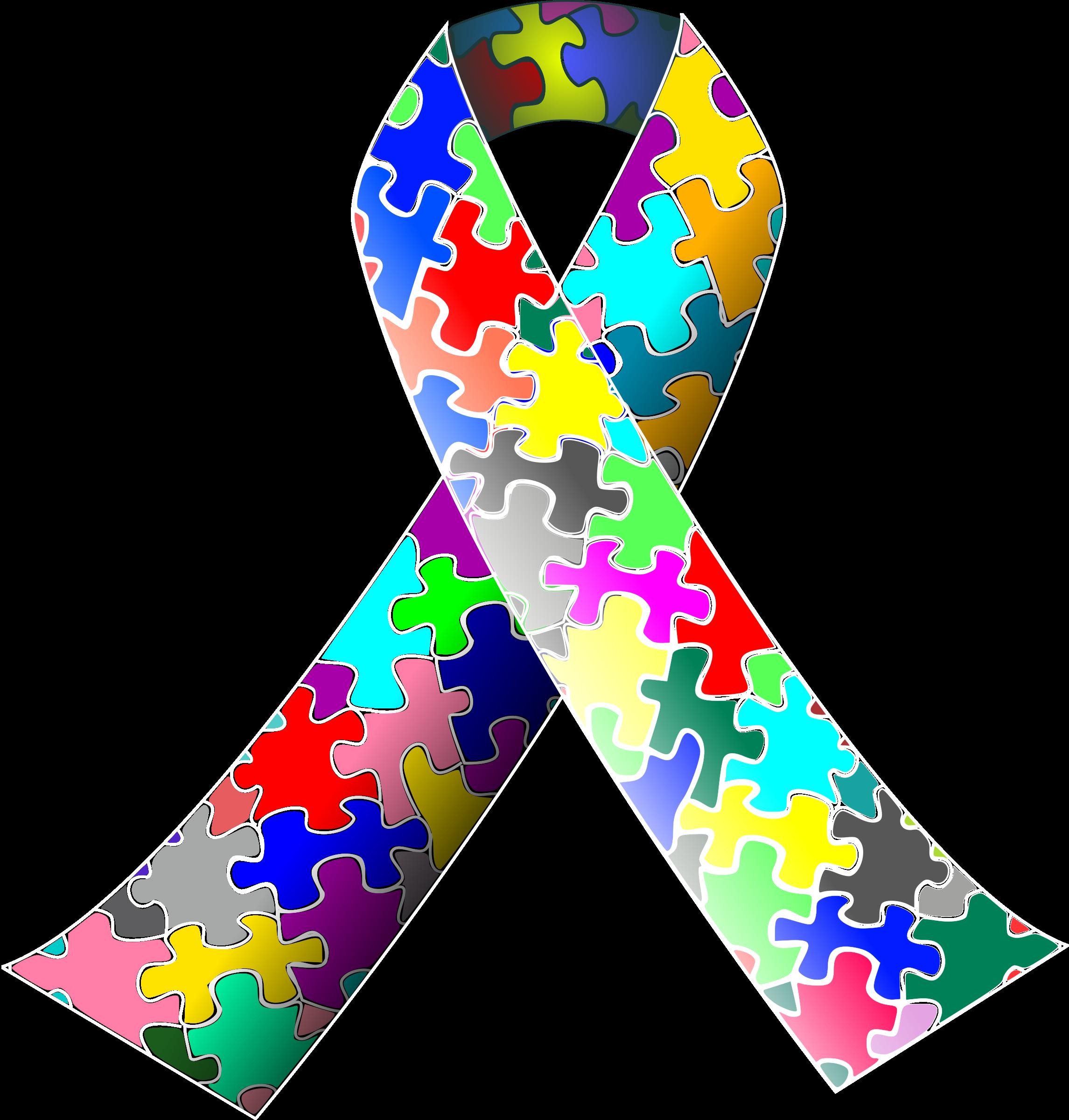 Autism images clip art. Clipart puzzle ribbon big