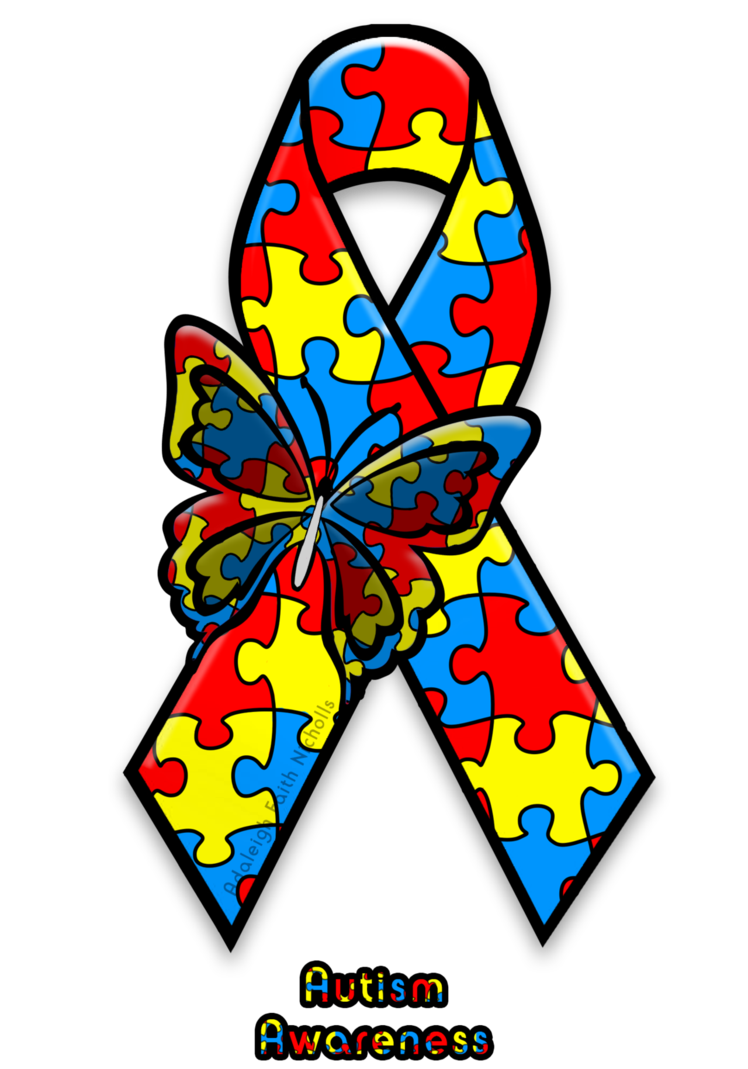 Autism images clip art jpg library library Autism Awareness Ribbon by AdaleighFaith on DeviantArt jpg library library