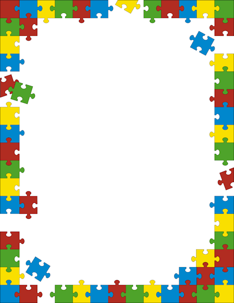 Autism clip art border banner stock Autism clip art border - ClipartFest banner stock