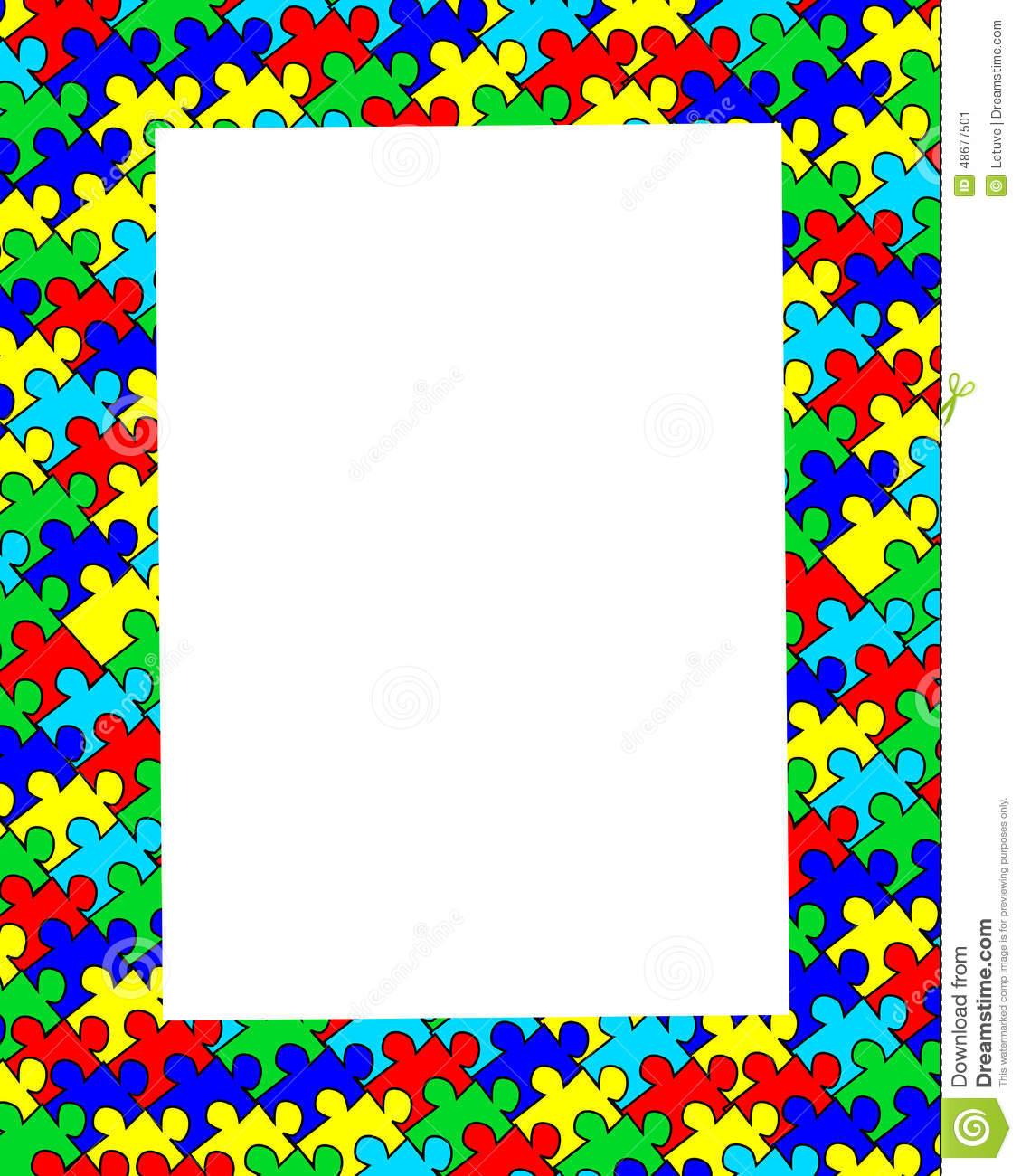 Autism clip art border graphic freeuse stock Autism Border Clipart graphic freeuse stock