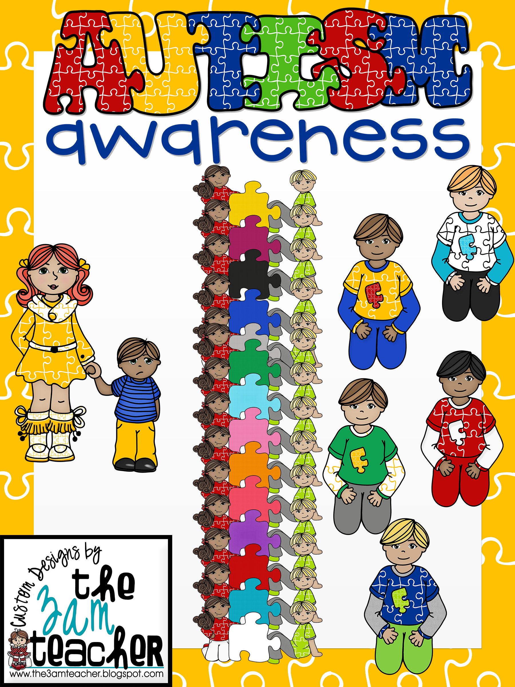 Autism clip art graphics clipart library stock Autism Awareness Clip Art/Graphics: Set 2 clipart library stock