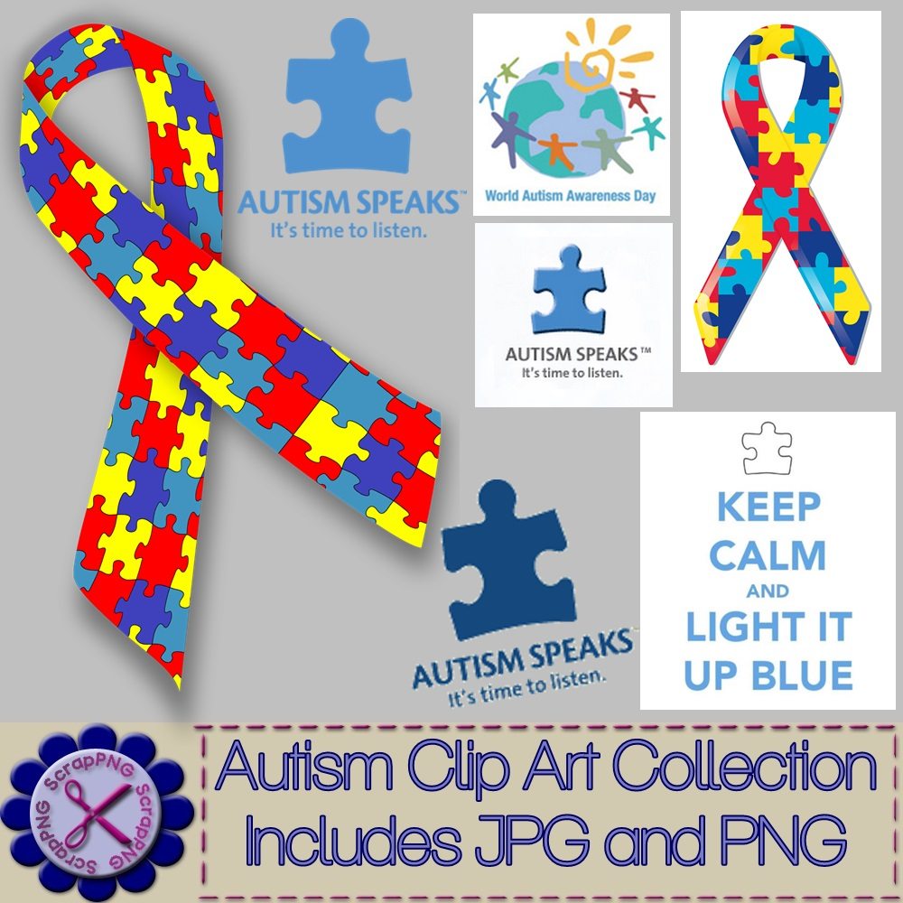 Autism clip art graphics svg freeuse stock Autism Awareness Clip Art Collection Lot of 31 - Its Free ... svg freeuse stock