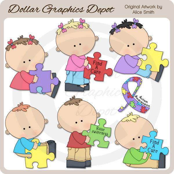 Kids clipart clipartfest awareness. Autism clip art pictures