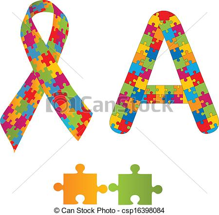 Autism logo clip art. Stock photos and images