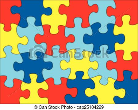 Autism logo clip art. Vector clipart eps images