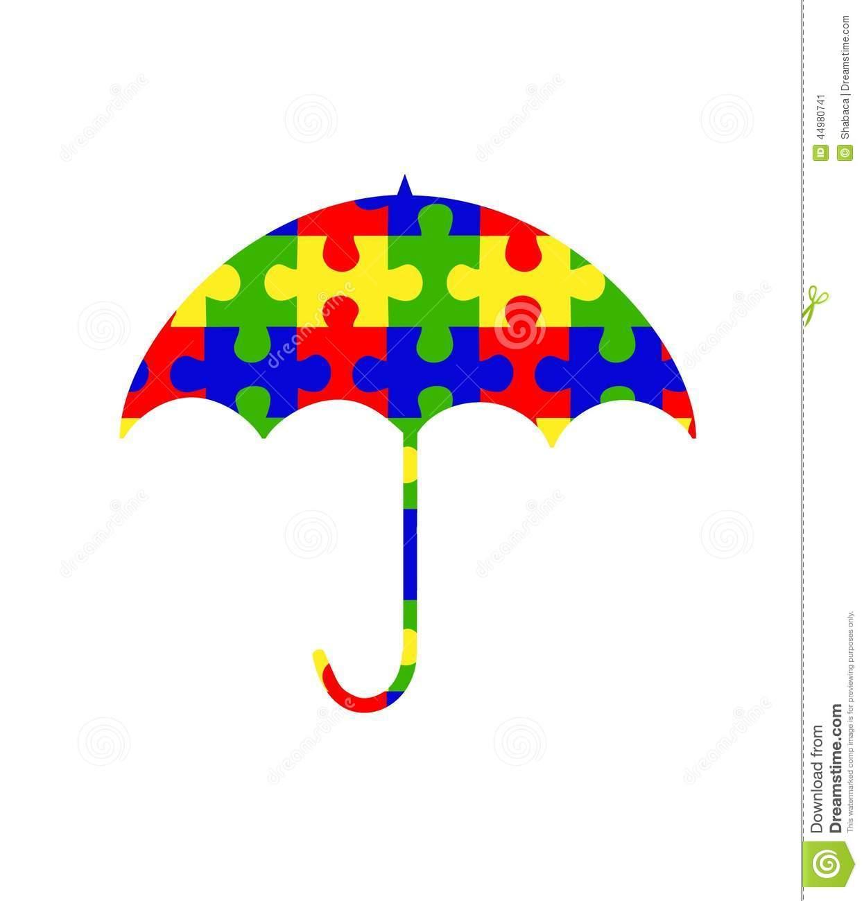 Stock illustrations umbrella clipart. Autism logo clip art