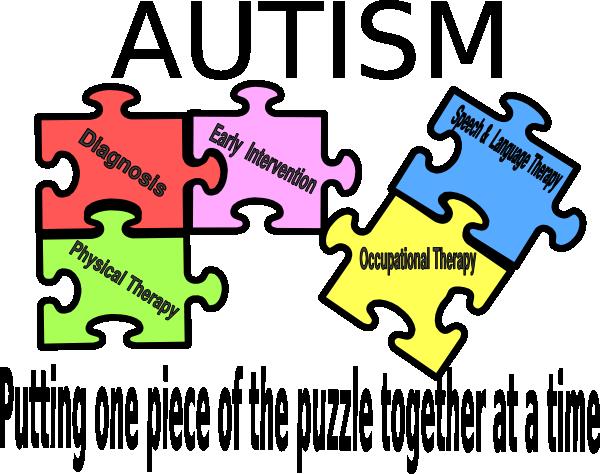 Puzzle at clker com. Autism logo clip art