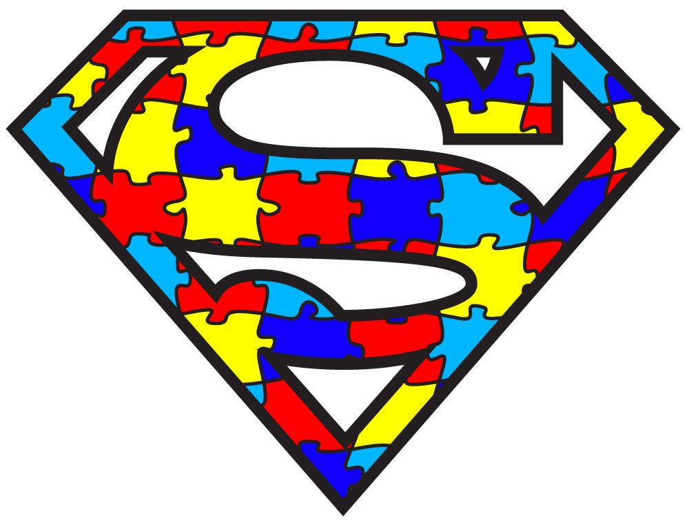 Autism logo clip art. Vector clipart best superman