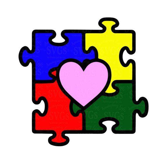 Autism puzzle heart clipart black and white clip art black and white library SVG Autism Heart Puzzle Awareness Classy Piece Clip Art Terrific 1 ... clip art black and white library