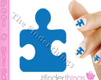 Autism puzzle piece clip art free stock Autism art | Etsy free stock