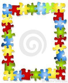 Autism puzzle piece clip art vector black and white Autism Awareness Puzzle Piece Wreath Handmade by JaimesCreations2 ... vector black and white