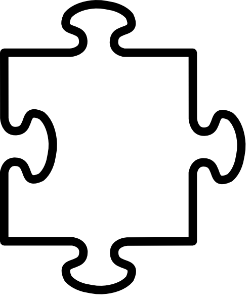 Printable pieces template best. Free autism puzzle piece clipart