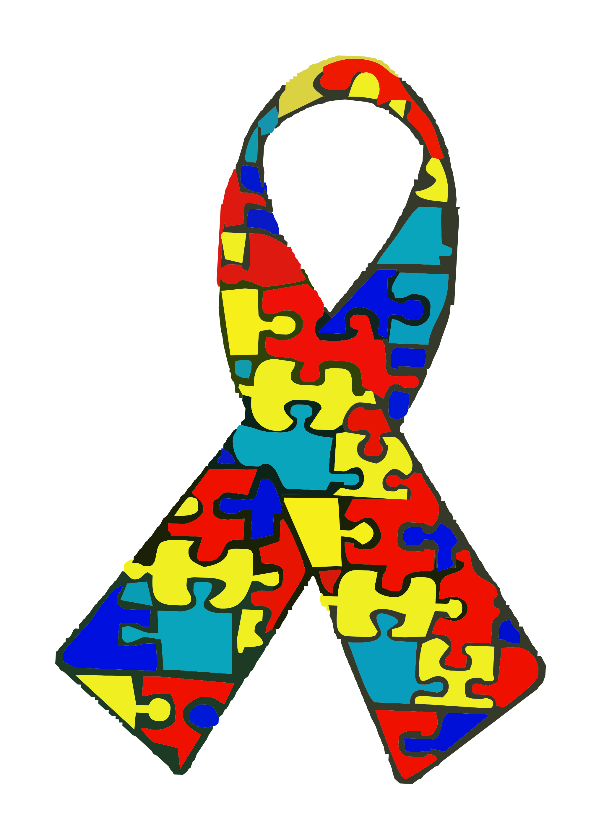 Autism ribbon clip art vector transparent File:Autism.svg - Wikimedia Commons vector transparent