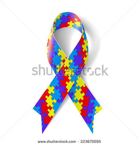Autism ribbon clip art vector transparent library Autism Awareness Ribbon Stock Illustration 112940659 - Shutterstock vector transparent library