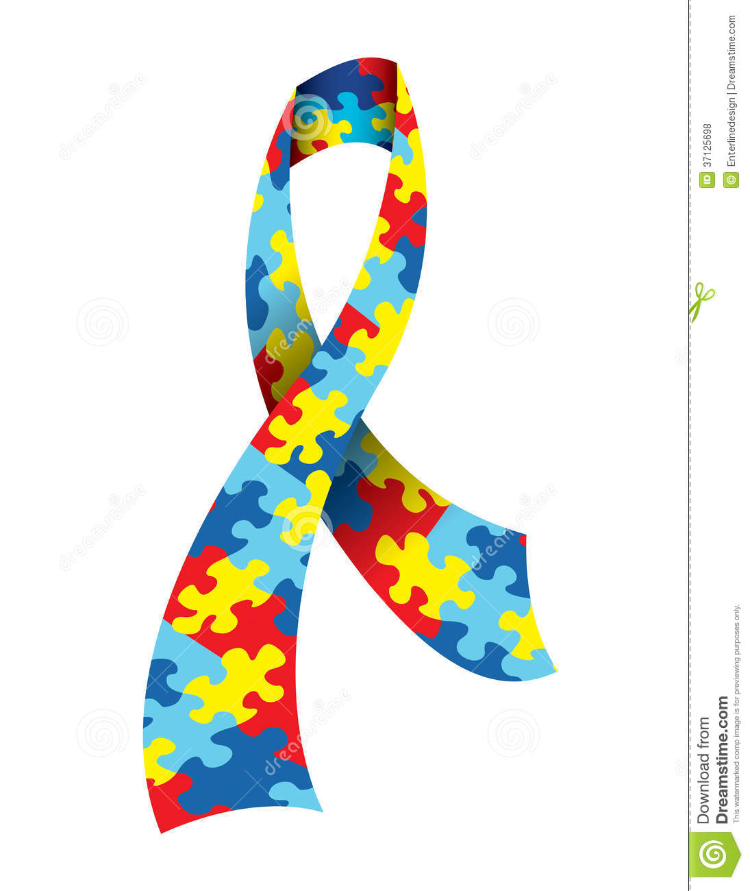 Autism ribbon clip art png free library Autism Awareness Ribbon Royalty Free Stock Photos - Image: 37125698 png free library