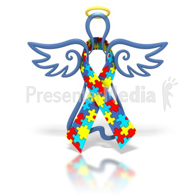 Autism ribbon clip art png transparent download Angel Outline Autism Ribbon - Signs and Symbols - Great Clipart ... png transparent download