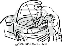 Auto repair clipart graphic black and white download Auto Body Repair Clip Art - Royalty Free - GoGraph graphic black and white download