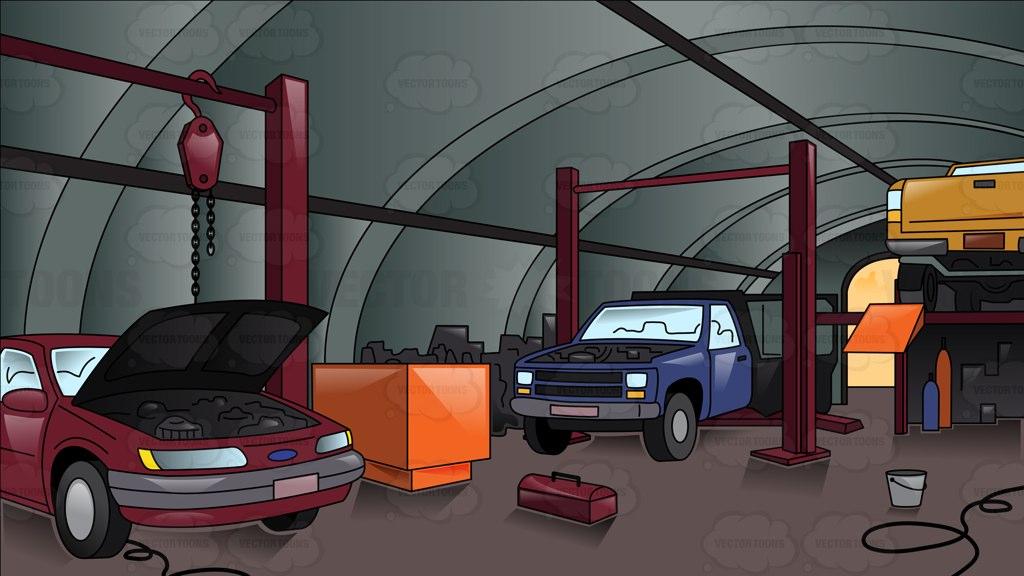 Auto body repair clipart cartoon png transparent download Cartoon car shop clipart - Clip Art Library png transparent download