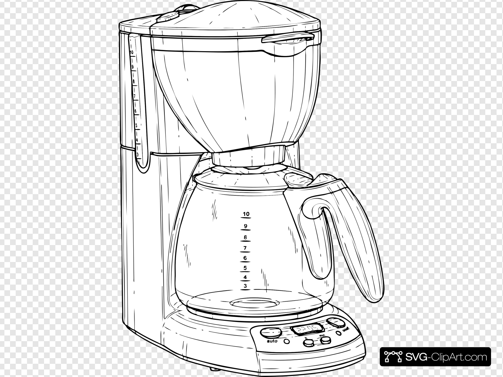 Auto clipart maker jpg library stock Coffee Maker Clip art, Icon and SVG - SVG Clipart jpg library stock