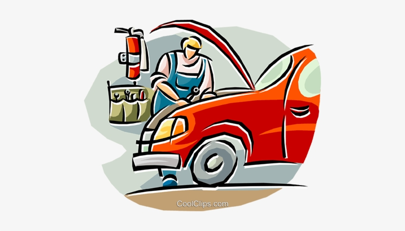 Free clipart auto mechanic clip transparent library Auto Mechanic Working On A Car Royalty Free Vector - Car Mechanic ... clip transparent library