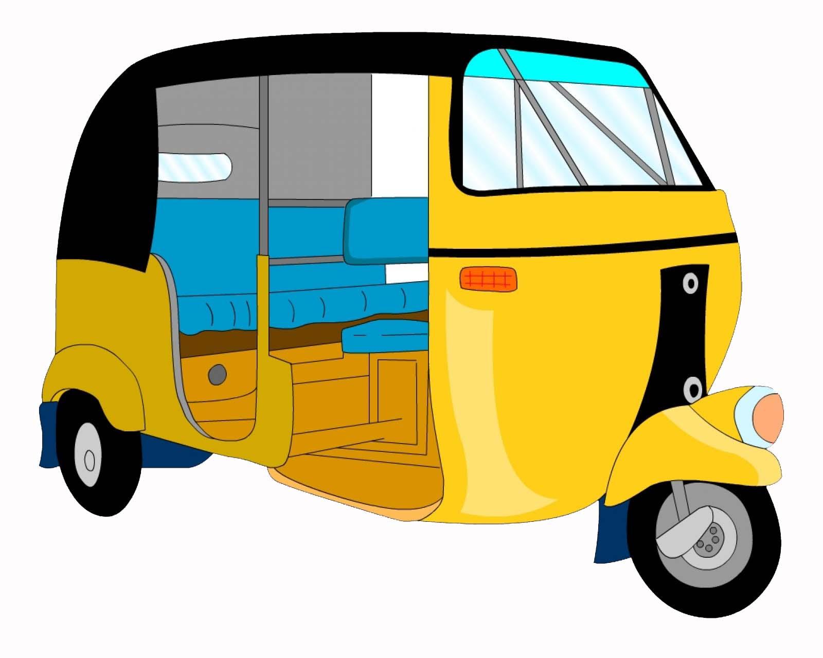 Auto rickshaw cartoon clipart picture royalty free library Auto Cartoon Free Download Clip Art - WebComicms.Net picture royalty free library